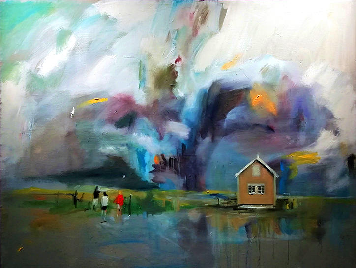 Alvar Reisner | Storm | 2019 | Oil and acrylic on canvas